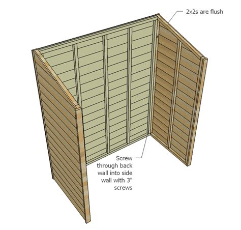white small cedar fence picket storage shed diy projects