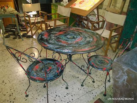 salon de jardin en fer colore salon de jardin en fer colore maison design bahbe