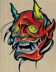Smola Hannya by Corey Smola Asian New School Tattoo Canvas ...