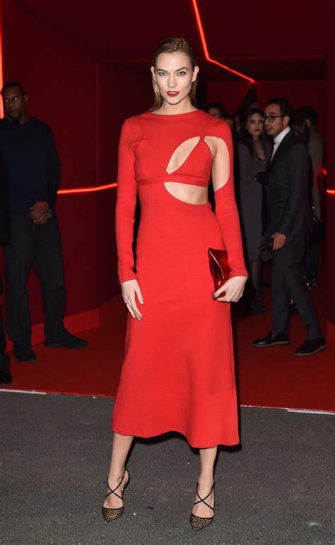 Karlie Kloss Oreal Red Obsession Party Paris Fashion