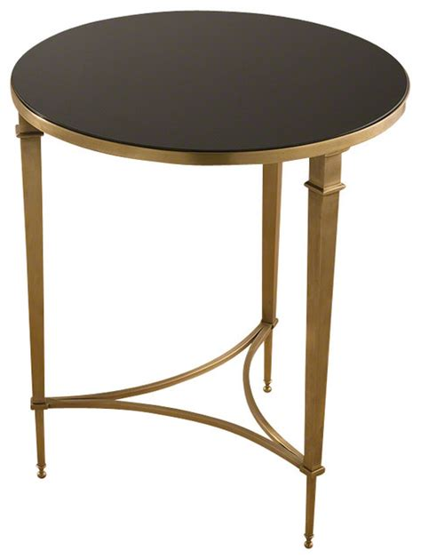 square brass side table round french square leg table brass black granite