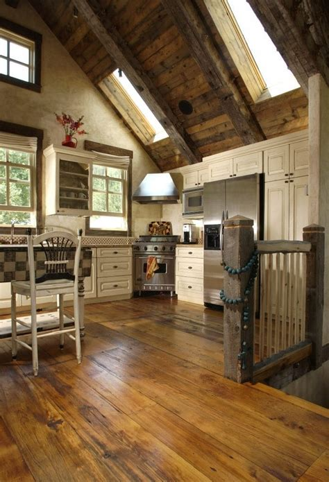 reclaimed barnwood flooring  colorado kitchen carlisle