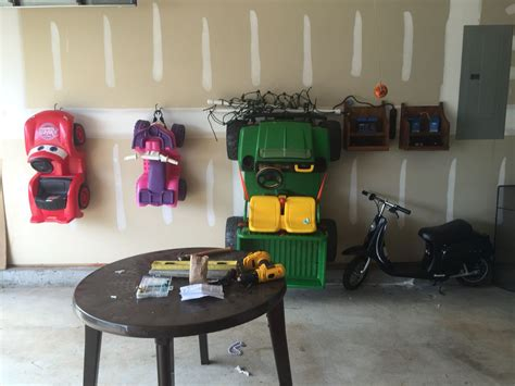 Garage Storage On Wheels by Need A Place To Store Those Bulky Power Wheel Toys How