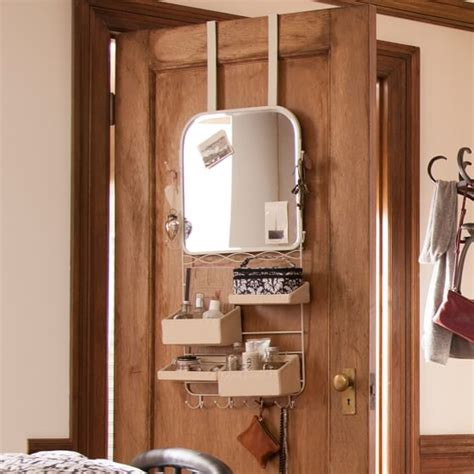 Over The Door Mirror Rack Pbteen