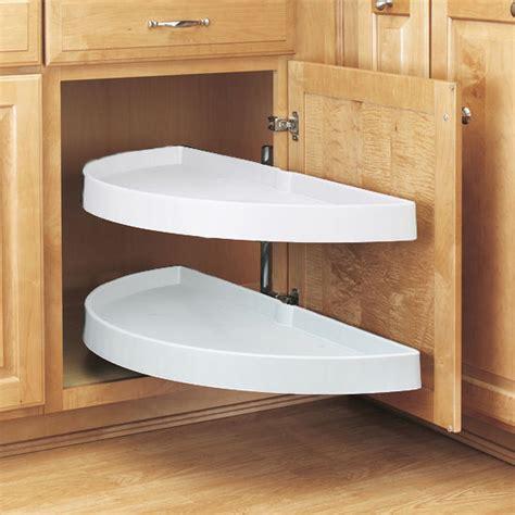 blind corner base cabinet lazy susan rev a shelf traditional quot half moon pivot out 2 shelf