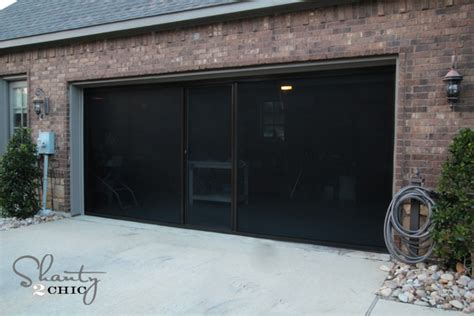 screened in garage door check out my new garage screen so awesome shanty 2 chic