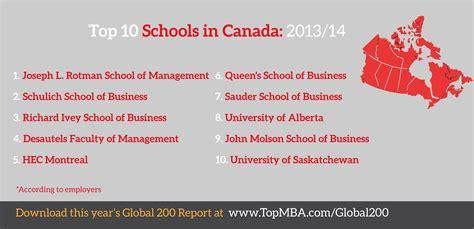 business schools  canada  top  analysis topmbacom