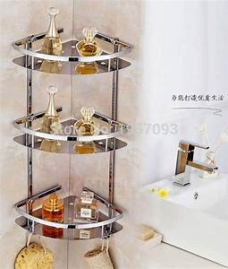 High quality stainless steel bathroom shelves three tier 3 ...