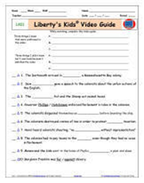 Download A Free Liberty's Kids* Boston Tea Party  Worksheetvideo Guide