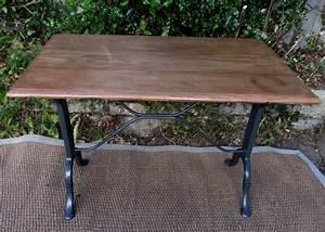 Table Bistrot Ancienne : table de bistrot ancienne rectangulaire avec plateau en ch ne ~ Melissatoandfro.com Idées de Décoration