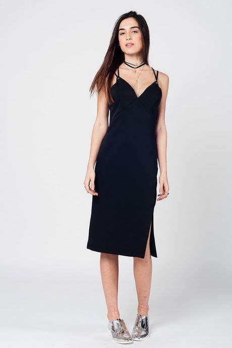 lange jurk met split en open rug