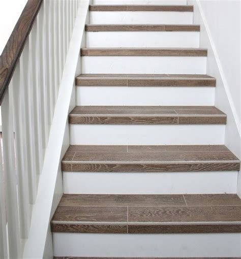 Tile Stair Nosing Wood by 25 Best Ideas About Tile On Stairs On Custom