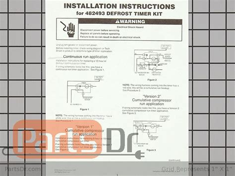 Whirlpool Defrost Timer Kit Parts