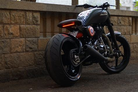 Modified Bikes Tyres by Modified Royal Enfield Americana