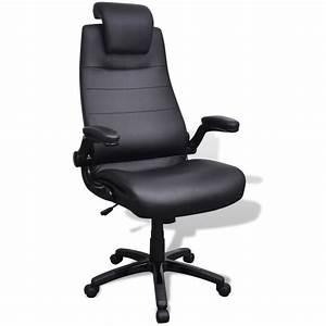 Chaise En Cuir Noir : acheter chaise pivotante r glable avec accoudoir en cuir artificiel noir pas cher ~ Teatrodelosmanantiales.com Idées de Décoration
