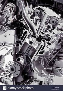 Closeup Cross Section Of 2017 Buick Lacrosse 3 6l V6 Vvt Di 310hp Car Engine Showing The