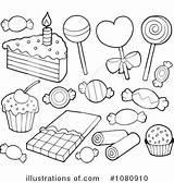 Coloring Dessert Desserts Clipart Illustration Royalty Drawings Visekart Rf 300px 78kb sketch template