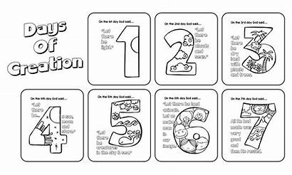 Creation Pages Days Coloring Gods Printable Activity