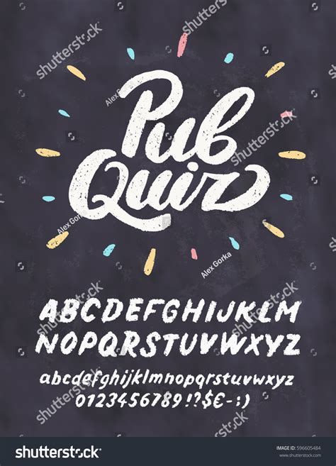 chalkboard logo templates free pub quiz chalkboard sign template stock vector 596605484