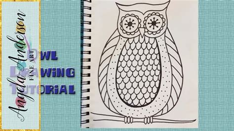 draw easy owl coloring pages  beginners  kids