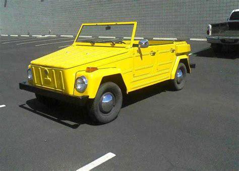 volkswagen thing yellow 1973 volkswagen thing for sale buy classic volks