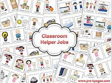 Classroom Helpers Chart in Preschool