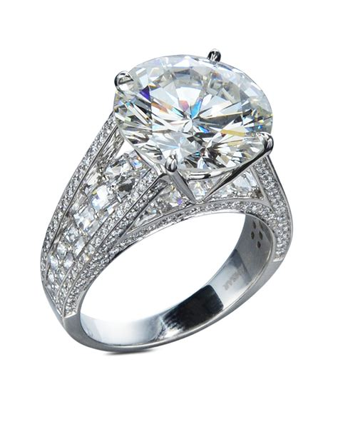 7 Carat Diamond Engagement Ring  Turgeon Raine. Pinterest Rings. Tie Dye Rings. Message Engagement Rings. Pattern Engagement Rings. Cheap Emerald Engagement Wedding Rings. Ct Emerald Cut Engagement Wedding Rings. Bridal Shower Rings. Stretch Rings