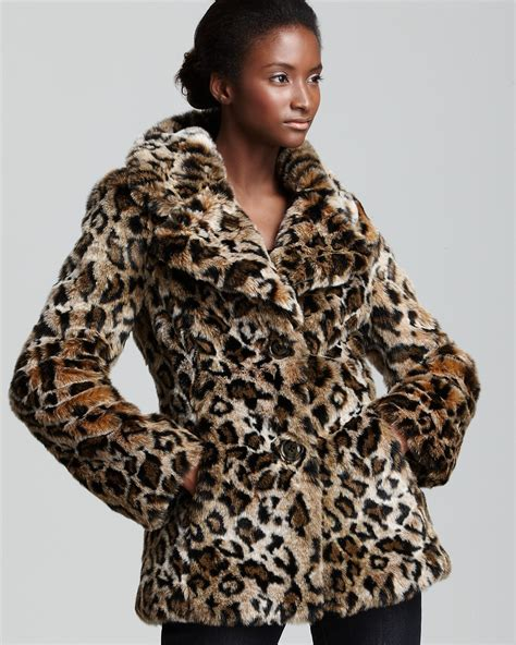 GUESS Faux Fur Leopard Jacket   Bloomingdale's