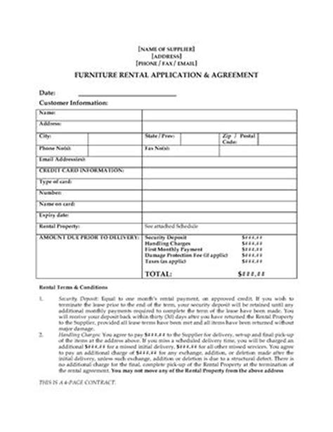 home staging furniture rental contract legal forms