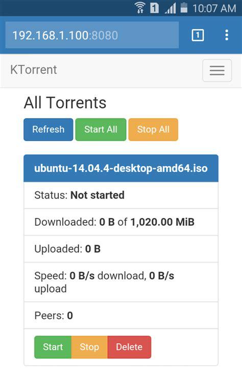 bootstrap mobile bootstrap skin for ktorrent webinterface bits