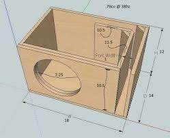 Image result for subwoofer box design for 12 inch in 2020 ...