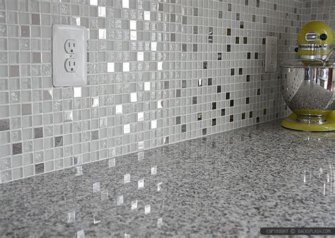 White Glass Metal Backsplash Tile Luna Pearl   Backsplash.com