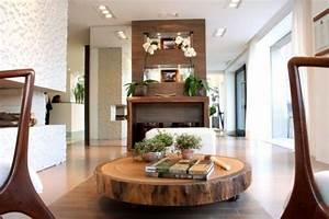 Baumstamm Als Tisch : massivholz couchtisch baumstamm scheibe tora brasil ~ Watch28wear.com Haus und Dekorationen