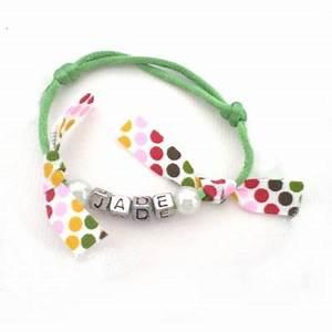bracelet cordon prenom ruban pois vert billes de clowns With tapis chambre bébé avec bracelet cordon fleur