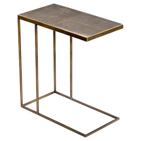 faux shagreen furniture hinge industrial loft faux shagreen brass side table