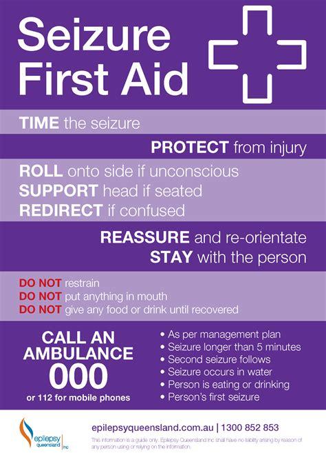 seizure  aid resources epilepsy queensland