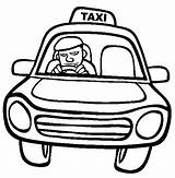 Taxi Coloring Driver Driving Printable Getcolorings sketch template