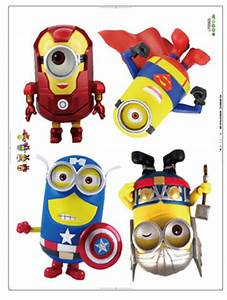 Cartoon Despicable Me Minions Wall Stickers for Kids Room ...