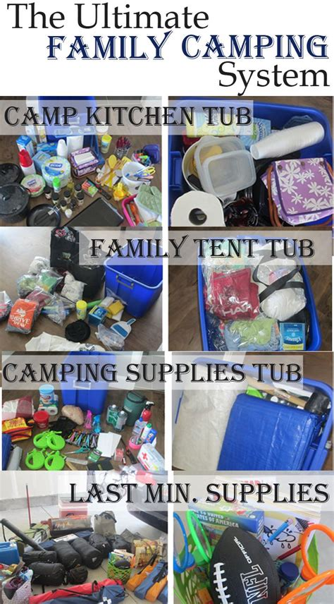 ultimate family camping list camping trucs de