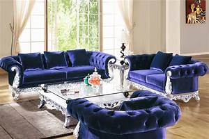 Navy Sofa Set Velvet Navy Living Room Set Fabric Sets