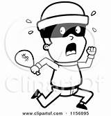 Coloring Running Burglar Clipart Bag Robber Cartoon Pages Cash Money Criminals Vector Bank Thoman Cory Robbers Royalty Outlined Rf Clipartpanda sketch template