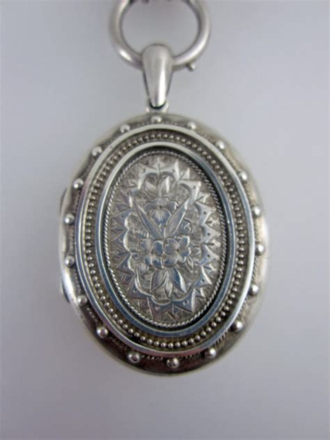 Antiques Atlas  Victorian Silver Locket & Chain. Semi Precious Stone Engagement Rings. Starfish Necklace. Sterling Silver Bangle Bracelets. Top Jewelry Stores. Rose Gold Bangle Charm Bracelet. Silver Bangle Bracelets With Stones. Cushion Cut Gemstone. Emerald Cut Tanzanite