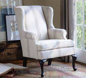 Gramercy wingback chair modern armchairs and accent for Modern armchair covers