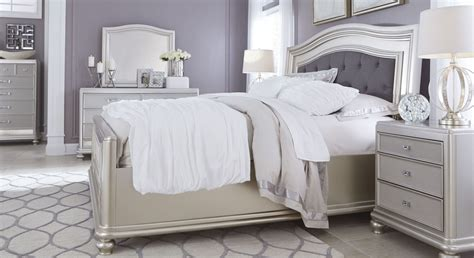 silver bedroom set coralayne silver bedroom set from b650 157 54 96