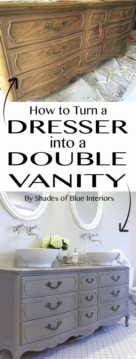 how to turn an dresser into a kitchen island how to turn a dresser into a vanity diy your home 9973