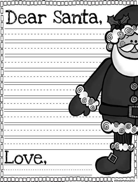 dear santa letter template freebie tpt  lessons