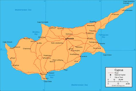 cyprus map  satellite image