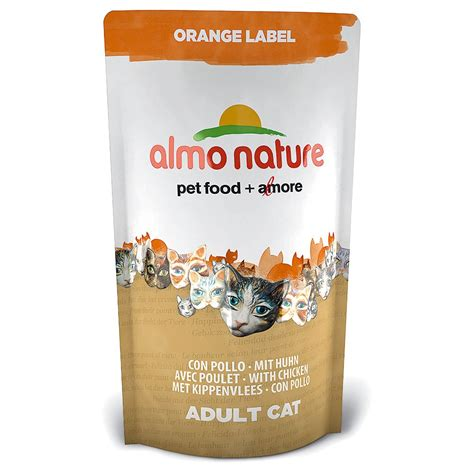 750g cuisine almo nature orange label chicken cat food 750g