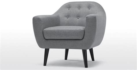 Armchair In Upholstered Pearl Grey, Ritchie