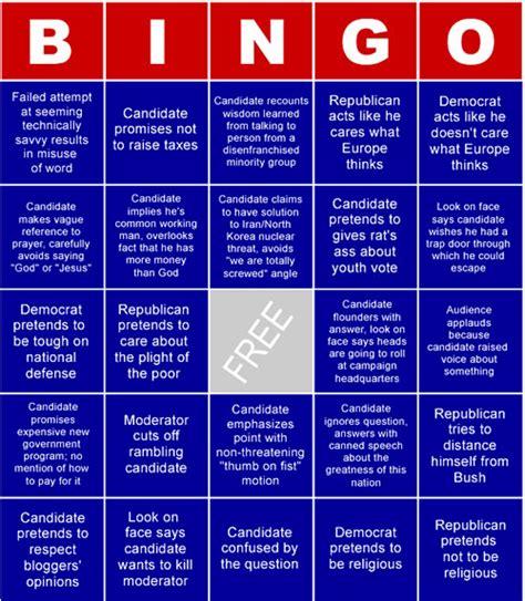 presidential debate bingo neatorama